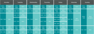 Swimming Pool Timetable